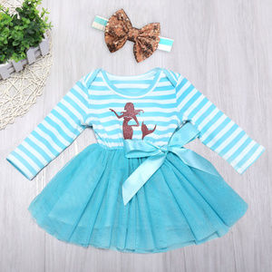 Other - Mermaid Baby Girls Tutu Dress Headband Set 18-24M